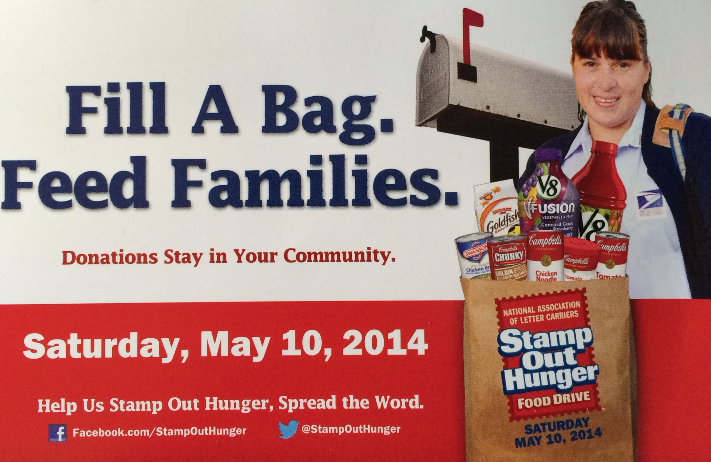 letter carriers food drive saturday